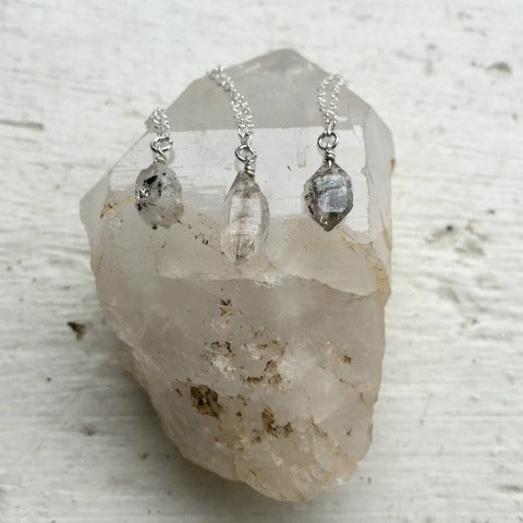 Birthstone April Herkimer Diamond Necklace