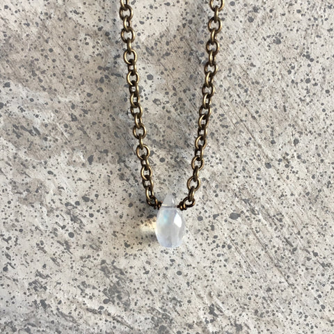 Rainbow Moonstone Crown Chakra Necklace
