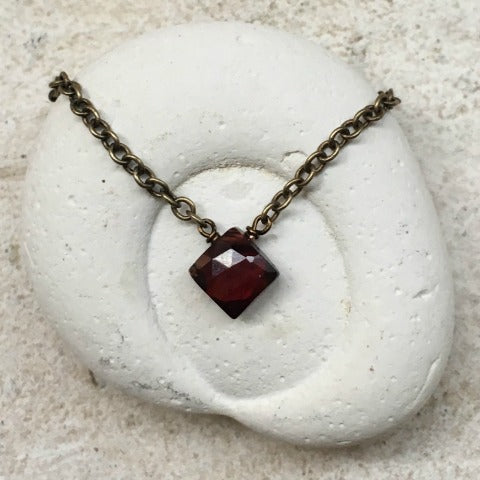 Garnet Root Chakra Necklace