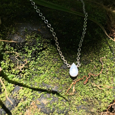 Blue Lace Agate Drop Necklace