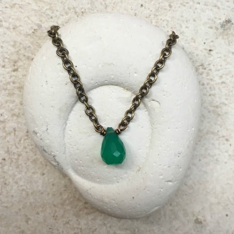 Green Onyx Heart Chakra Necklace