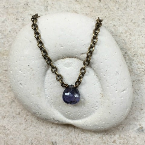 Iolite Third Eye Chakra Necklace
