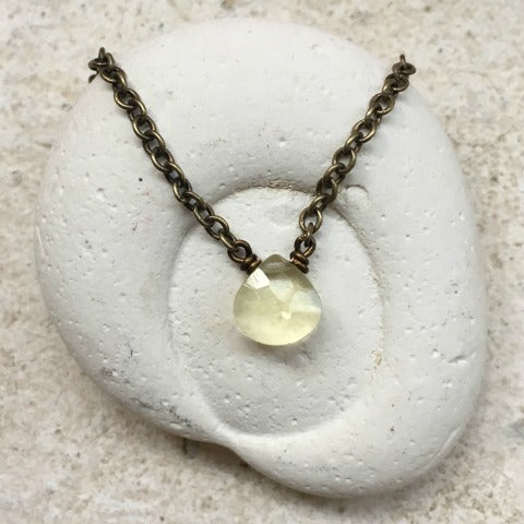Lemon Quartz Solar Plexus Chakra Necklace