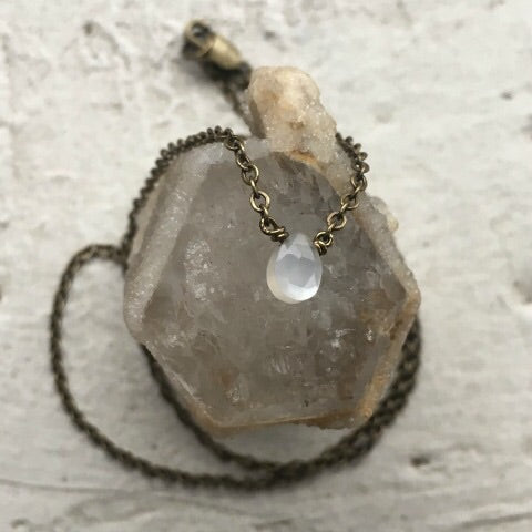 White Moonstone Necklace