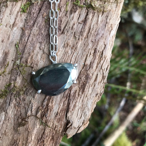 Pyrite Prongset Poki Necklace