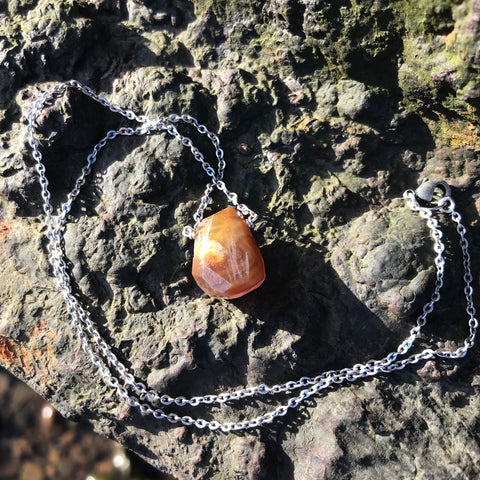 Druzy Quartz Faceted Agate Necklace Root and Crown Chakras