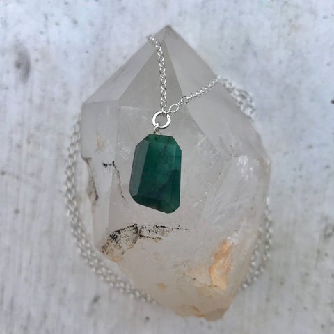 Birthstone May Emerald Necklace