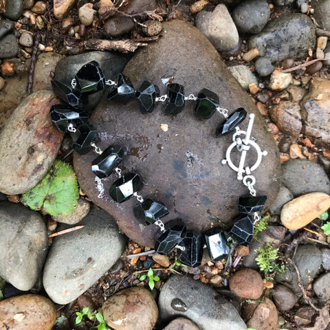 Black Spinnel Sterling Silver Bracelet