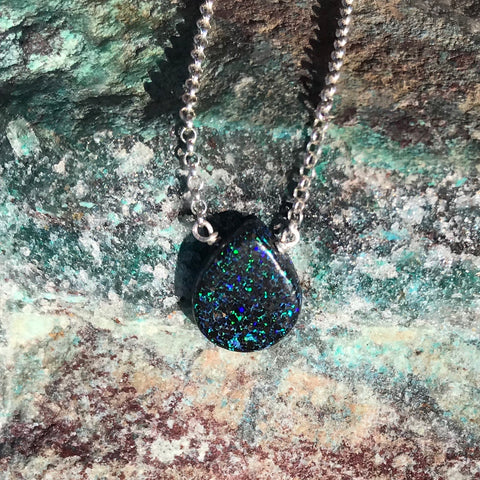 Andamooka Opal Drop Necklace