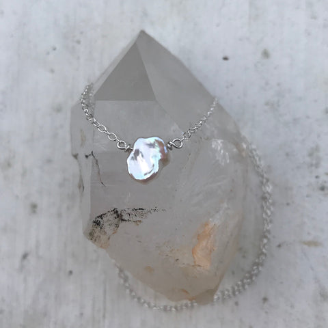 Birthstone June Pearl Necklace