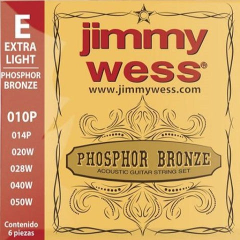 Encordado Jimmy Wess WB-10 para Guitarra Acústica