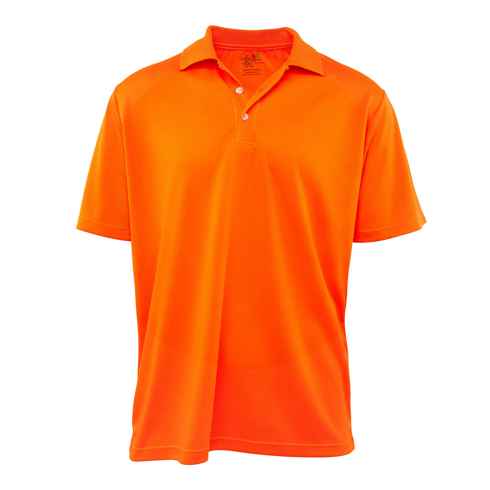 Dri-FIT Golf Shirts - Men's Green Solid Bold - Standard Fit Short Sleeve Golf Shirt - mygolfshirts.com