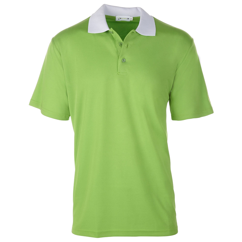 Men's Bold Contast Collared Golf Shirt