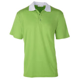 Men's Short Sleeve Golf Shirt - Two-Color - Green/White