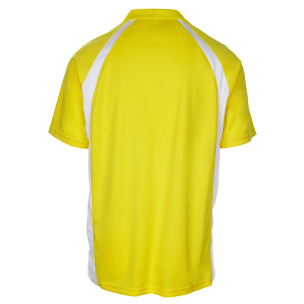 Men's Short Sleeve Golf Shirts - Two-Color - Yellow/White