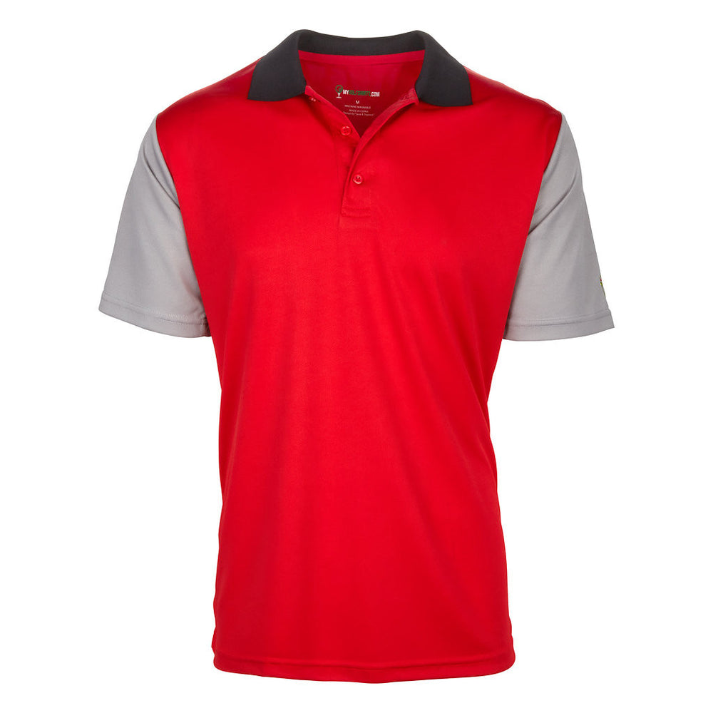 Red & grey black wild golf shirts