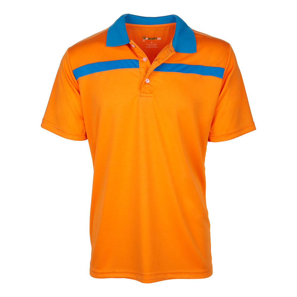 Men's Dri-Fit Bold Line Contrast Polo Golf Shirt
