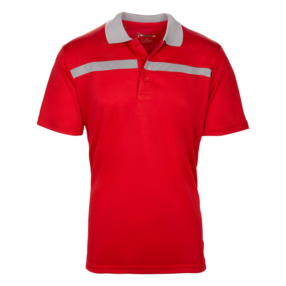 Dri-FIT Golf Shirts - Men's Bold Line Contrast Standard Fit