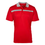 Dri-FIT Golf Shirts - Men's Bold Line Contrast - Standard Fit Short Sleeve Golf Shirt - mygolfshirts.com