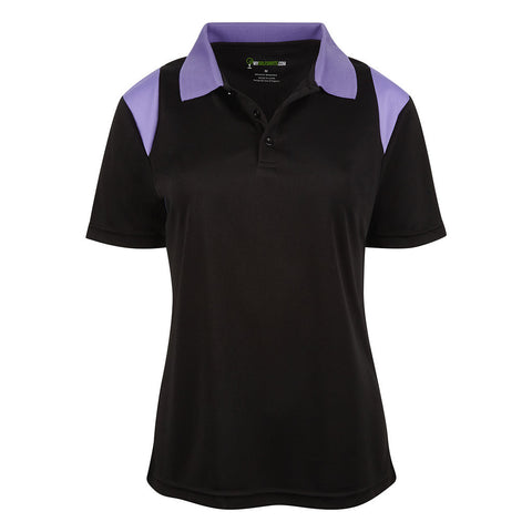 Style # 6651 Women's Game Redefined Short Sleeve Golf Shirts - Collar and Shoulder Contrast