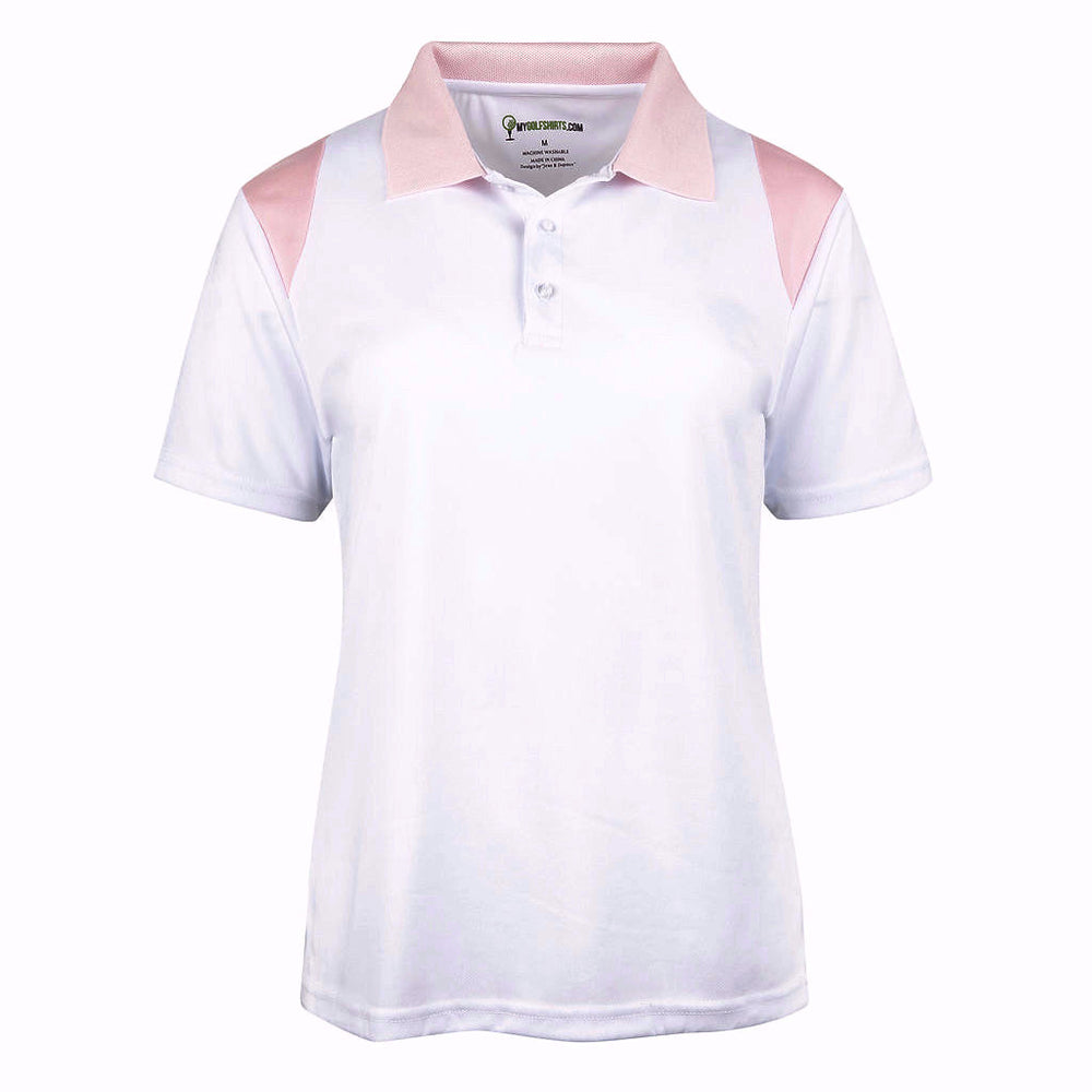 Short Sleeve Womens French  Cut Dri-Fit Golf Shirts  Style 6651