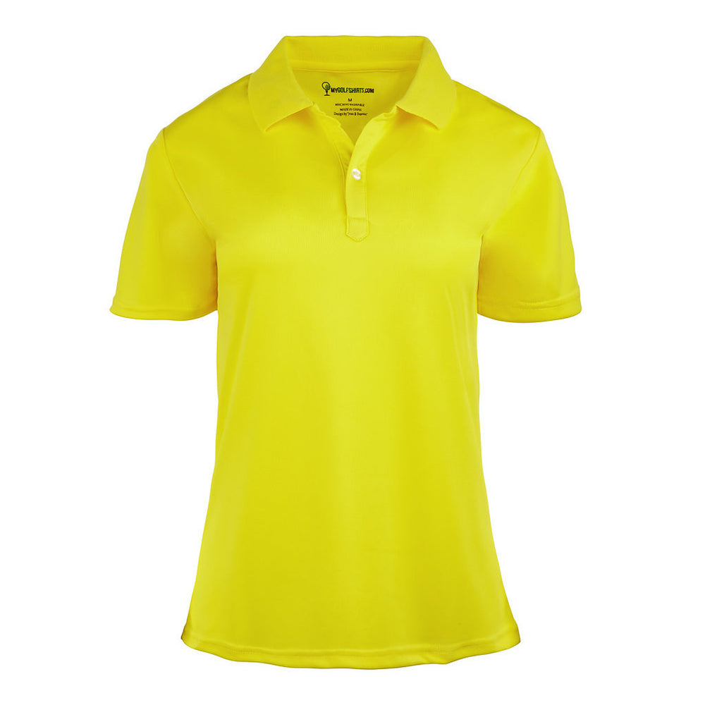 French Junior  Cut Classic Womens Dri-Fit  Golf Shirt Short Sleeve Golf Shirt - mygolfshirts.com