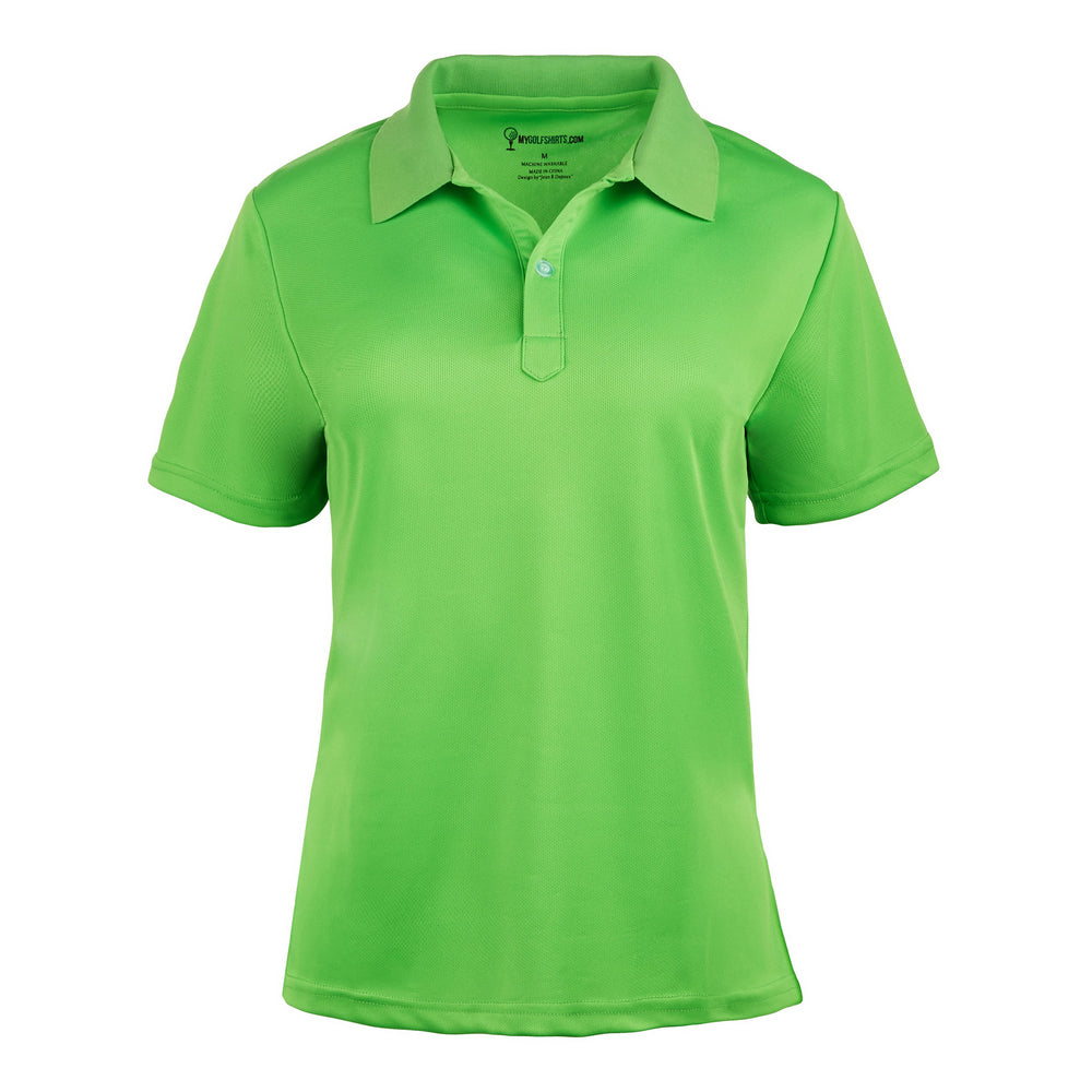 French Cut Purple Womens Dri-Fit Short Sleeve Golf Shirt XS-2X Short Sleeve Golf Shirt - mygolfshirts.com