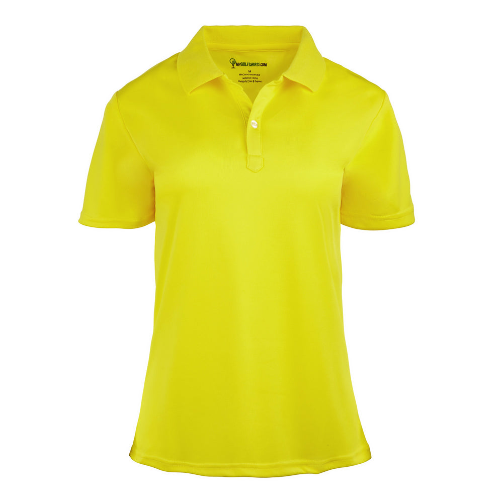 French  Classic Purple Women Dri-Fit Short Sleeve Short Sleeve Golf Shirt - mygolfshirts.com