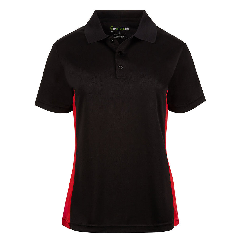 Womens Dri-Fit Slim Bold Junior Cut French Golf Shirts