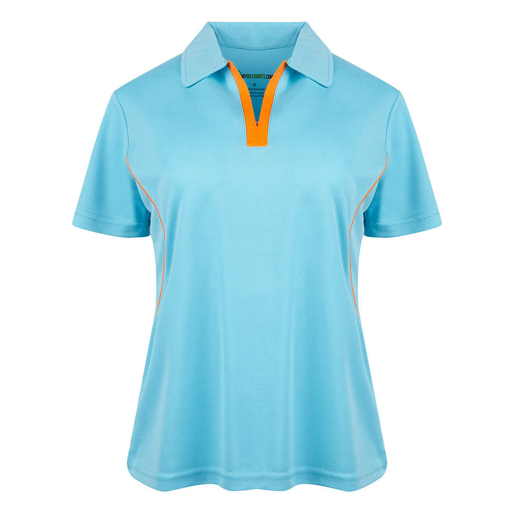 Game Redefined Cool Contrast Womens V-Neck Golf Shirt