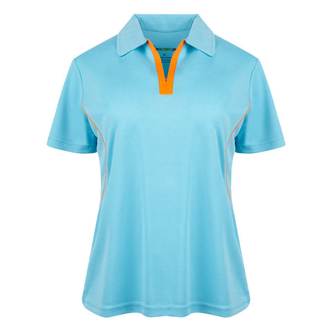 Style # 6659 Women's Game Redefined Short Sleeve Golf Shirts - Placket  Contrast
