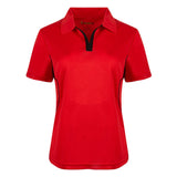 Women's Game Redefined Short Sleeve Golf Shirts - Lapel Constrast Womens Short Sleeve Golf Shirt - mygolfshirts.com