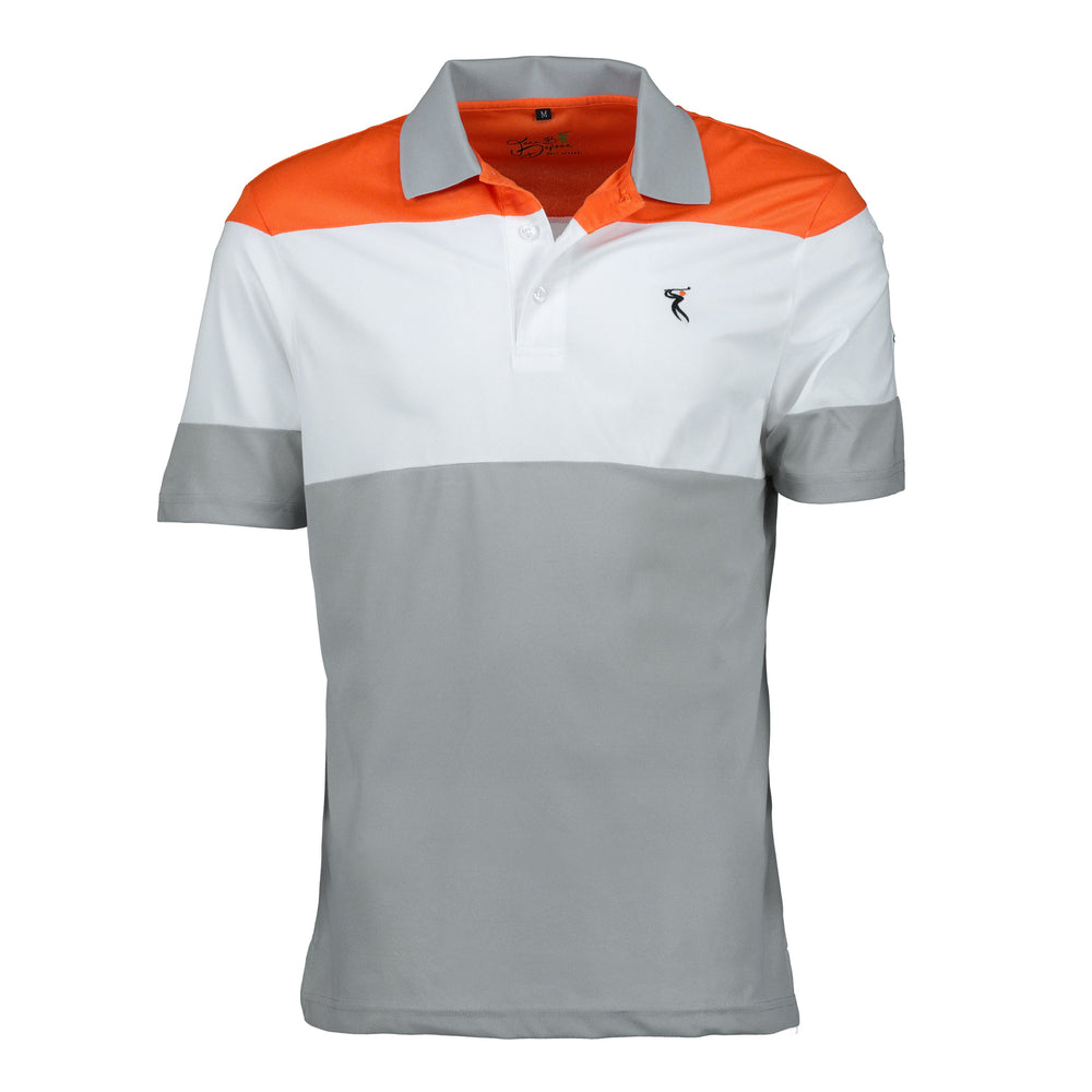 New Style - Men's DRI-Fit Short Sleeved Tri-Color Golf Shirt
