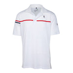 Dri-Fit Golf Shirt- Men's Bold Two Coloured Line Spandex 6965
