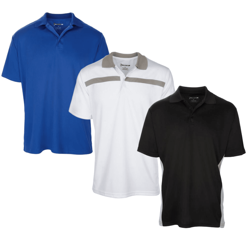 Men's Dri-Fit Golf Shirts - Save with a Three Shirt Bundle