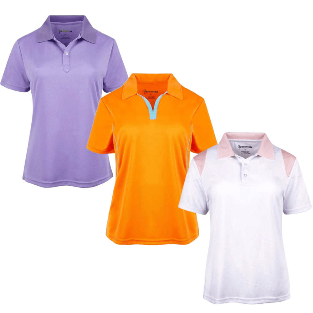 Women's  Cut Dri-Fit Golf Shirts - Save with a Three Shirt Bundle