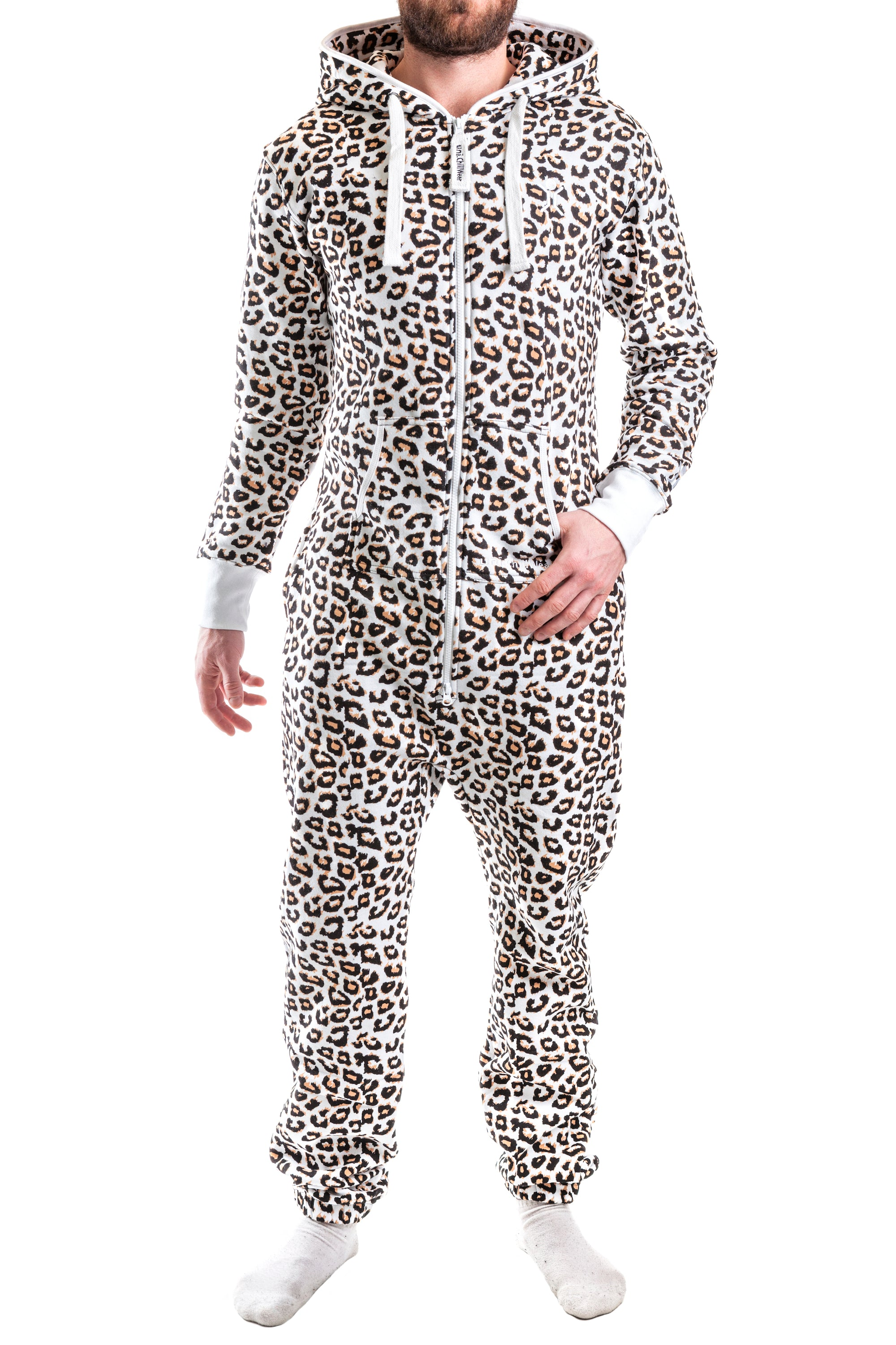 All Adult Pajamas, Onesies and Jumpsuits. Plush Adult Footed Pajamas with Hood in Leopard Print. $$ Camouflage Micro-Polar Fleece Adult Footed Pajamas in Green and Brown. $$ Jersey Knit Adult Footed Pajamas in Red Jersey Knit Adult Footed Pajamas in Navy Blue Onesies for Men and Women. $$ Jersey Knit.