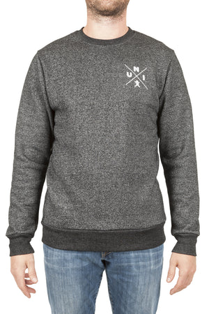 Marled Black Crewneck Sweater