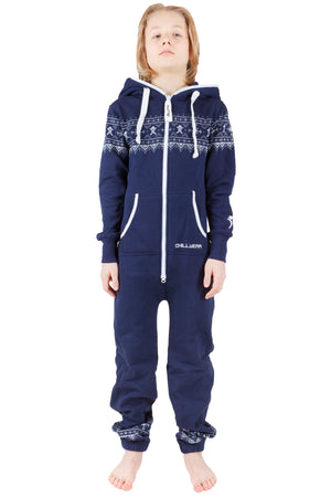 Nordic Navy Kids Christmas Onesie