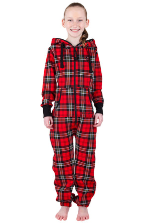 Plaid Red Kids Onesie