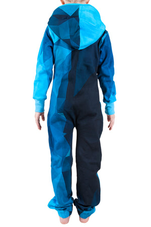 Geo Blue Kids Onesie