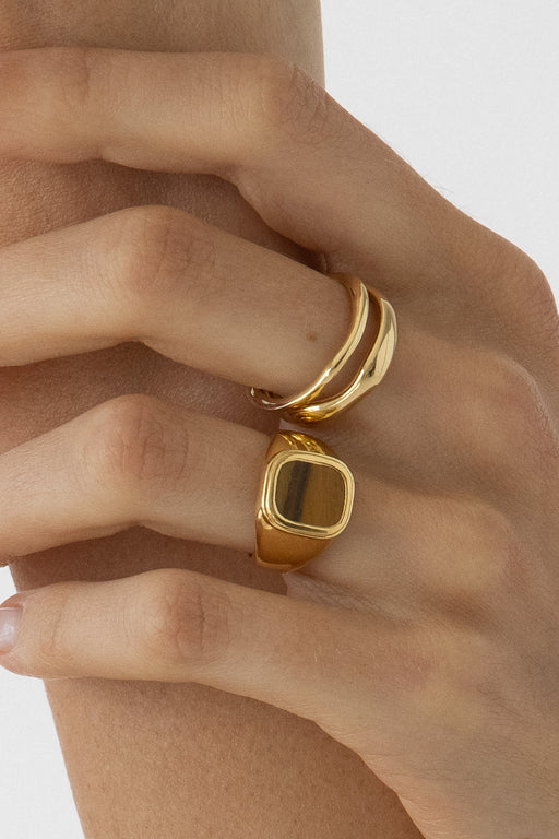 Rocky Tigers Eye Ring - 14k Vermeil | Pre Order