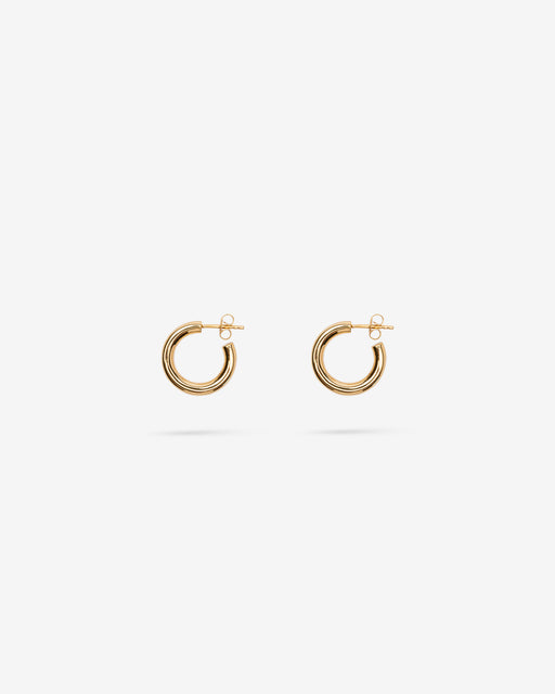 Goldie Tube Hoops - 14k Vermeil