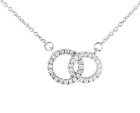 Double Diamond Loop Love Necklace
