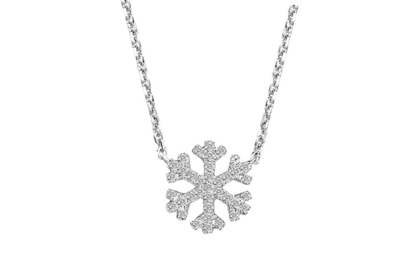 Diamond snowflake necklace and pendant