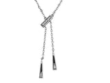 Diamond bar drop pendant with 9 diamonds in 18 carat white gold