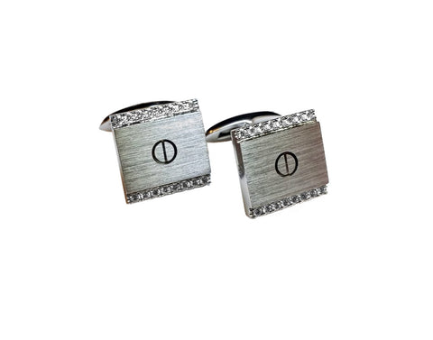 Cuff Links in 18 carat white gold