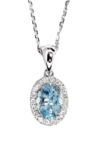 MISS ROSE: BLUE DROP PENDANT