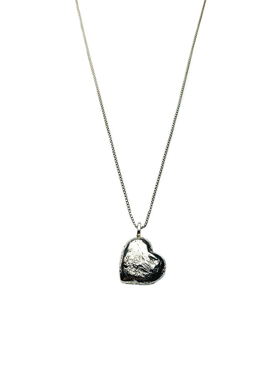 Medium Heart Necklace - Sterling Silver