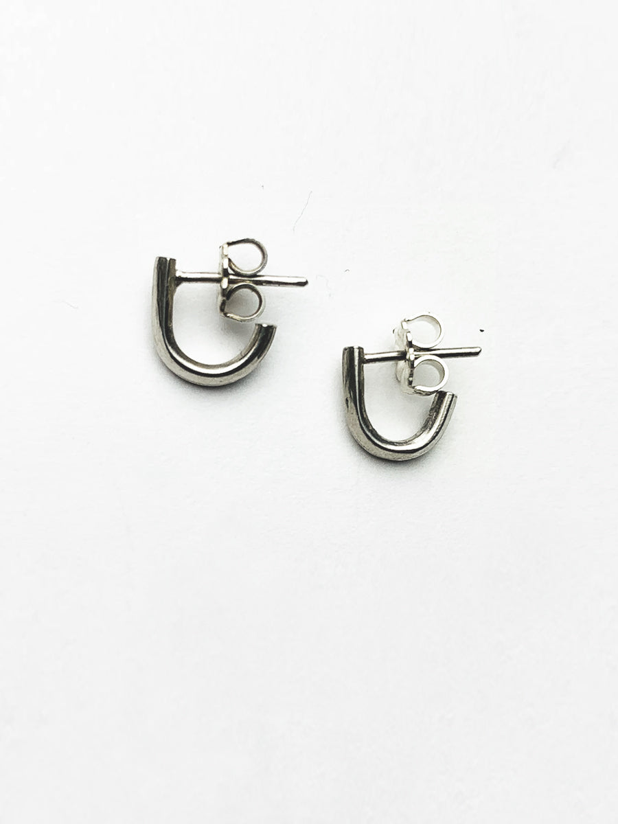 Lobe Cuff Earrings - Sterling Silver